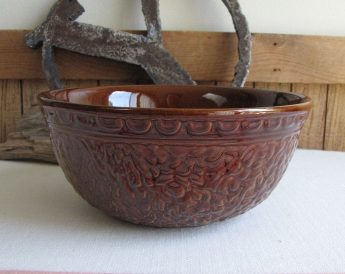 Haeger Pottery Brown Mixing Bowl Vintage Dinnerware and Replacements 1970s