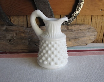 Fenton Milk Glass Cruet Hobnail Vintage Dinnerware and Replacements