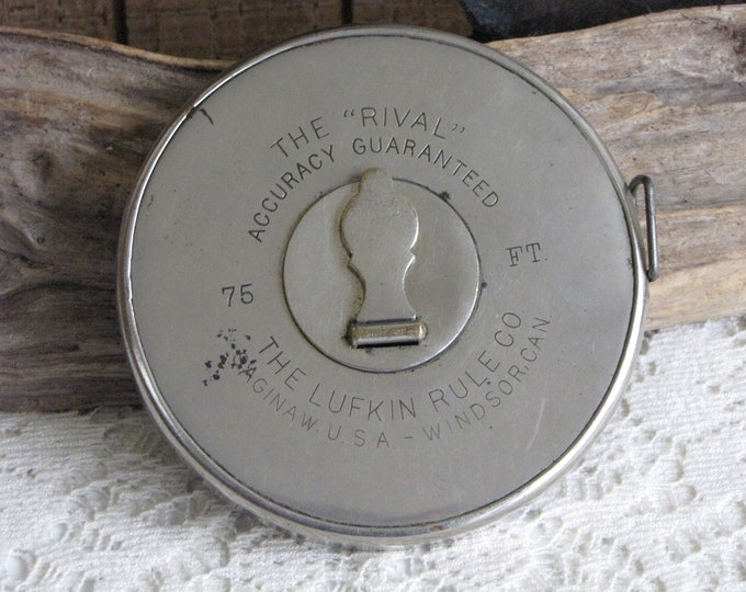 Lufkin Tape Measure The Rival 75 Ft. Stainless Case and Tape Vintage Tools and Measuring Units