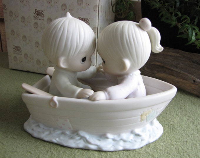 Precious Moments Friends Never Drift Apart Figurine 1993 Butterfly Mark Vintage Collectibles