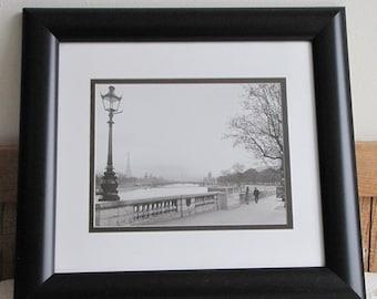"""Paris Print Afternoon in Paris """"Paris, Le Cours La Reine"""" Vintage Parisian Street Scene Black and White Photography Roger Viollet"""