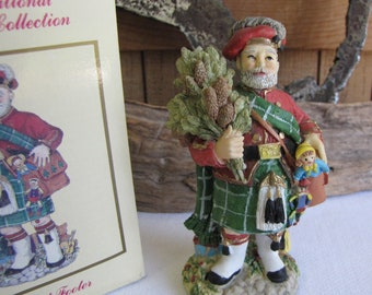 The International Santa Claus Collection The First Footer 1997 Scotland Christmas Decorations Santa in a Kilt
