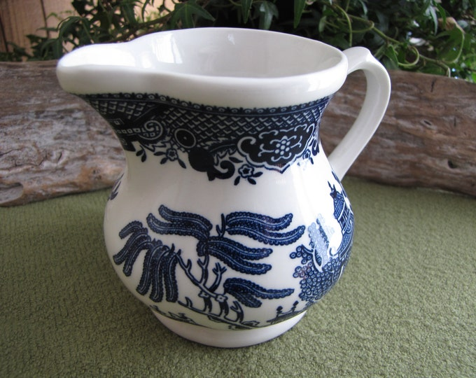 Blue Willow Ware Cream Pitcher 1989 Churchill Vintage Dinnerware and Replacements