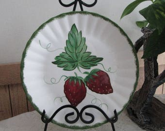 Southern Pottery Blue Ridge Wild Strawberry Pattern Vintage Farmhouse and Rustic Home Décor