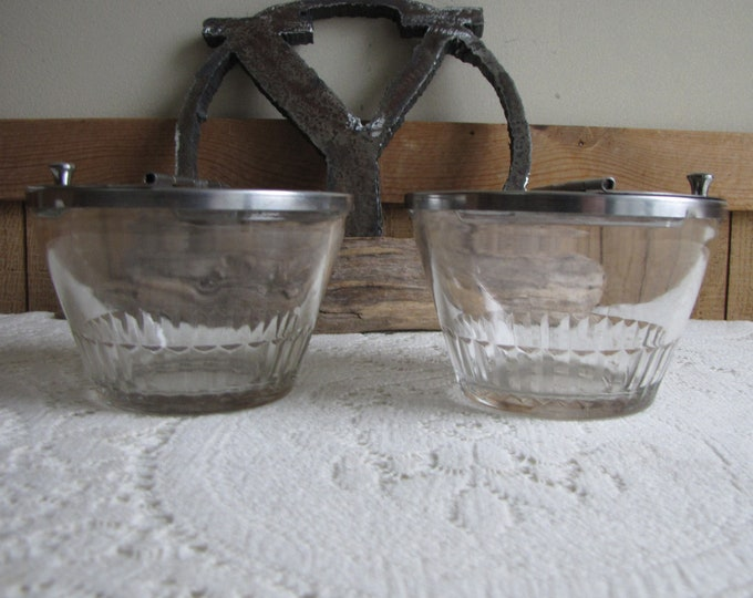 Garnish Bowls Set of Two (2) Vintage Barware and Condiment Containers