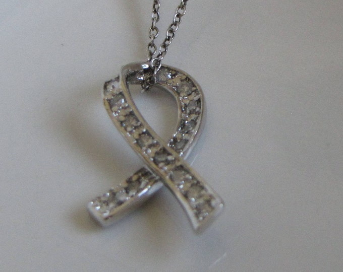 Sterling Silver Awareness Necklace Vintage Jewelry and Accessories