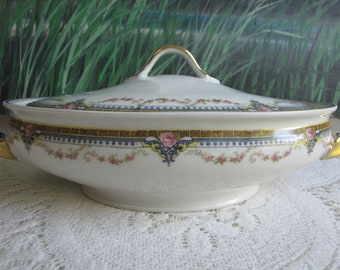 Haviland Round Covered Vegetable Dish Theodore Haviland Limoges Lidded Dish Schleiger #616 Antique Dinnerware and Replacements