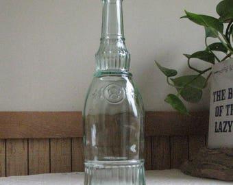 Old Bottle, Green Liquor or Wine Bottle and Decanter Vintage Kitchens Barware Rustic Florist Ware