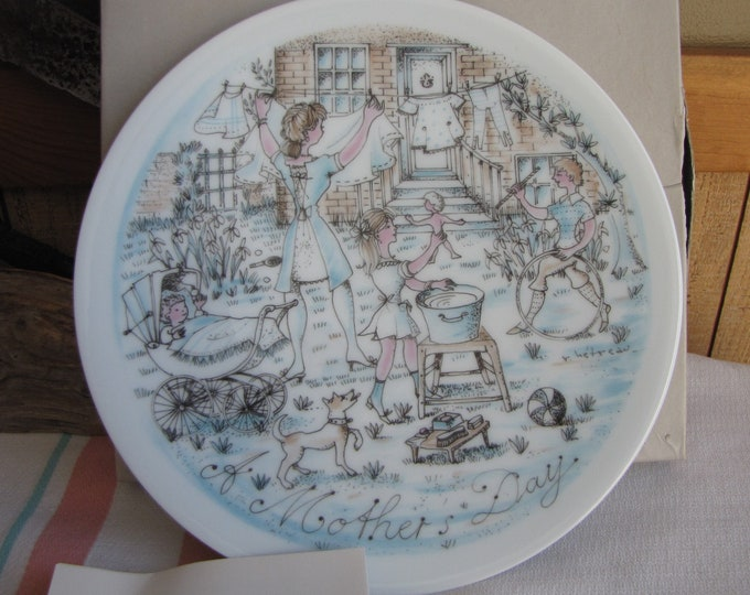Mother's Day Haviland Decorative Plate The Wash 1974 Second in the Series