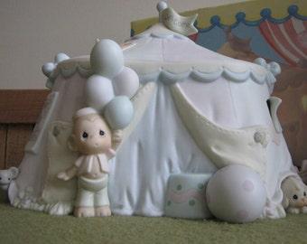 Precious Moments Sammy's Circus Tent Lighted Figurine Trumpet Symbol 1994 Retired