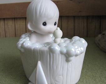 Precious Moments Tub Full of Love Figurine Sailboat Symbol 1995 Retired