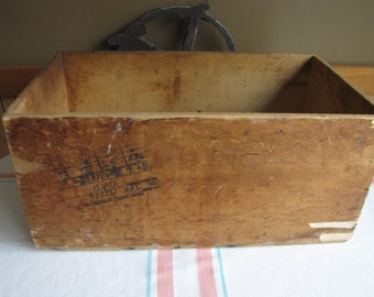 Wood Crate Marked TWA and JFK Airport Vintage Wooden Boxes and Crates