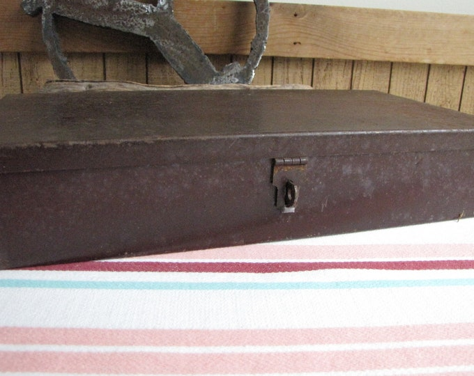 Metal Storage Box Vintage Boxes and Storage Toolboxes and Industrial Salvage