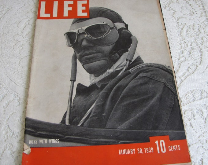 Life Magazines 1939 January 30 Boys with Wings Vintage Magazines and Advertising