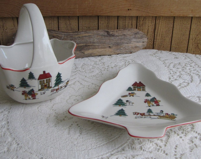 Jamestown candy dish and basket