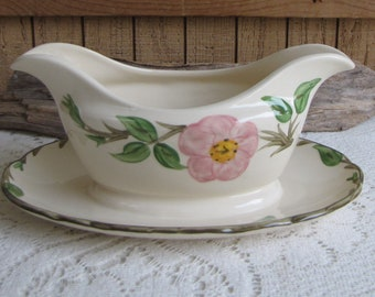 Franciscan Desert Rose Gravy Boat Vintage Dinnerware and Replacements Made in England Wedgwood 1980-1986