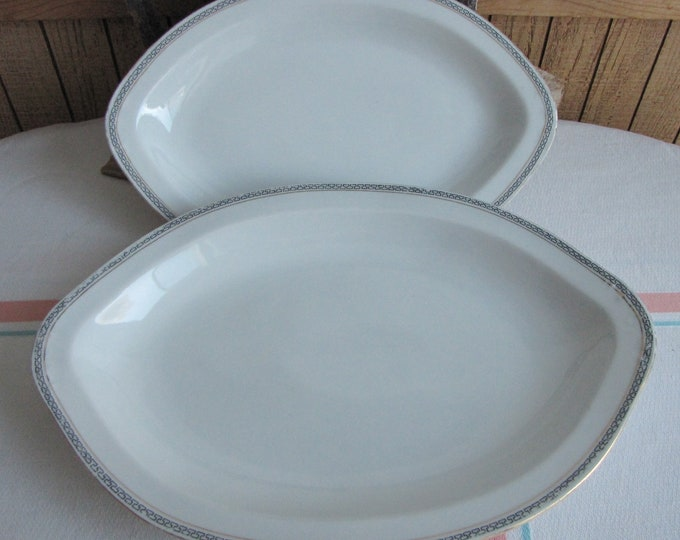 Royal Austrian porcelain dinner platters Greek Key Pattern 1899 to 1918 Antique Dinnerware and Replacements