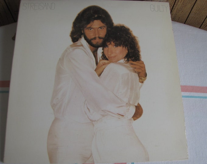 Streisand Guilty Album with Barry Gibbs Vintage Music and Vinyl 1980