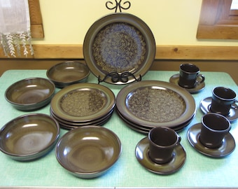 Franciscan Madeira Service of Four (4) Vintage Dinnerware and Replacements 1967-1983 California Pottery 20 Pieces