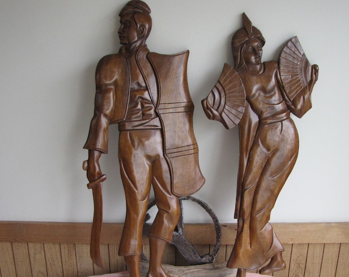 Wood Dancing Couple Wall Hangings Mid Century Home Decor