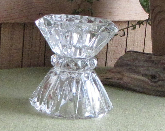 Vintage Crystal Candlestick Holder Haystack Styled Vintage Home Decor and Lighting