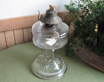 Vintage Kerosene Lamp Hurricane Stars Lighting Rustic Farmhouse