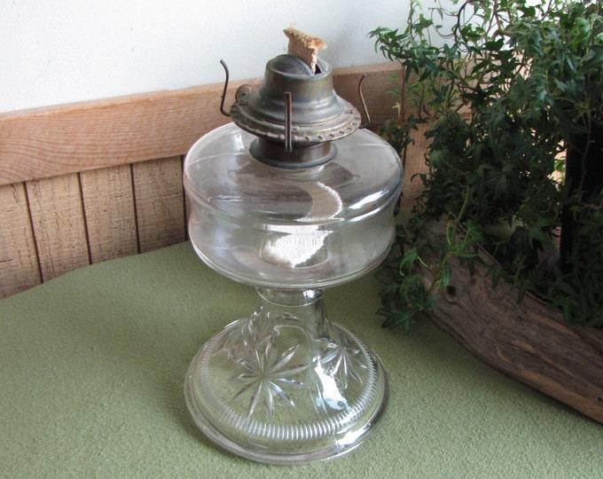 Vintage Kerosene Lamp Hurricane Stars Lighting Rustic Farmhouse