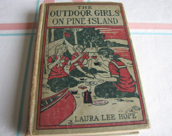 The Outdoor Girls of Pine Island Laurie Lee Hope 1916 1st Edition Vintage Young Adult Books and Literature