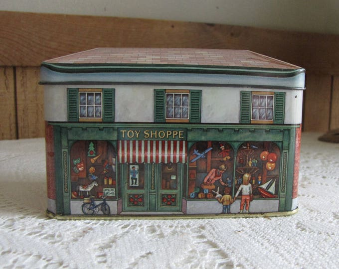 Toy Shoppe Tin Daher Designed Small Tea Tin Vintage Storage Boxes and Tins