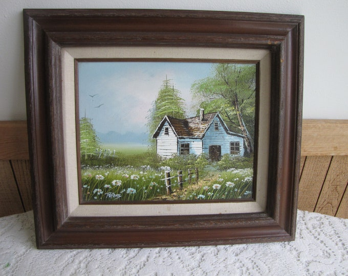 Vintage Farmhouse Oil Painting Artist Peters Home Galleries Wall Hangings Vintage Rustic Home Decor