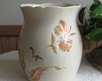 Haeger Pottery Cachepot Yellow Florist Ware Vintage Pottery and Home Décor