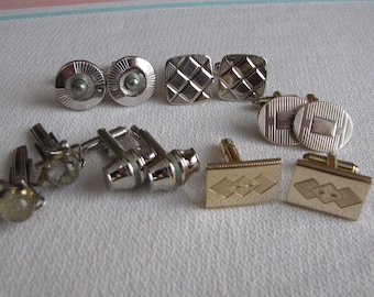 Cuff Links Lot of 6 Pairs Vintage Men's Jewelry and Accessories