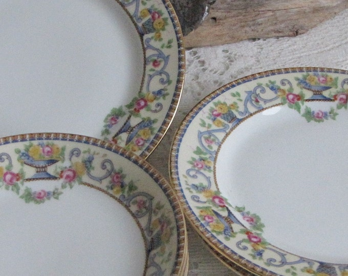 Bawo & Dotter Dessert Bowls and Bread Plates Circa 1920s Art Deco Vintage Dinnerware and Replacements Six (6) Pieces
