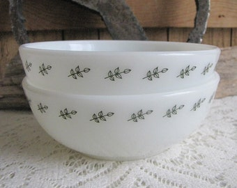 Pyrex Cereal Bowls Set of Two (2) Bowls Vintage Dinnerware and Replacements