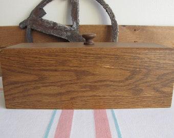 Vintage Wood Recipe Box Kitchens Storage and Recipes
