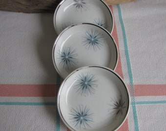 Easterling Celestial sauce dishes 1950s set of 3 Vintage Dinnerware and Replacements