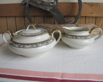 Theodore Haviland Troy Schleiger 170 Cream Pitcher and Sugar Bowl Antique Dinnerware and Replacements