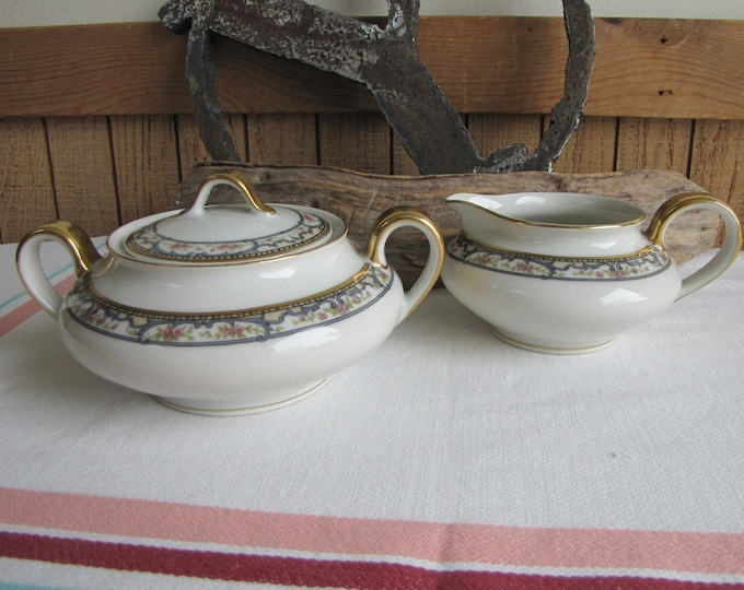 Theodore Haviland Troy cream and sugar bowl Schleiger 170 Vintage Dinnerware and Replacements
