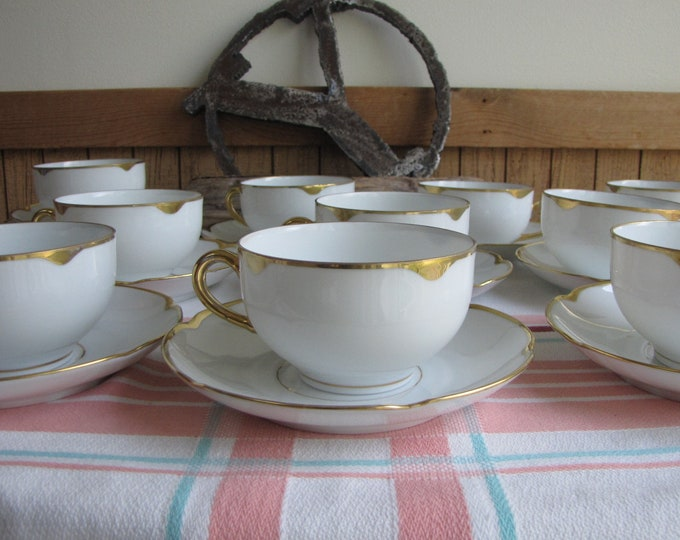 Royal Austrian porcelain cups and saucers Set of 10