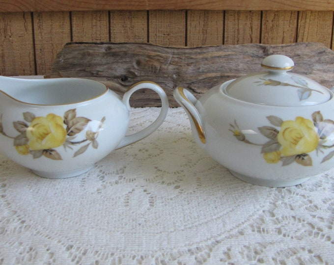 Cotillion by Sango Cream and Sugar Bowl Vintage Dinnerware and Replacements 1950s
