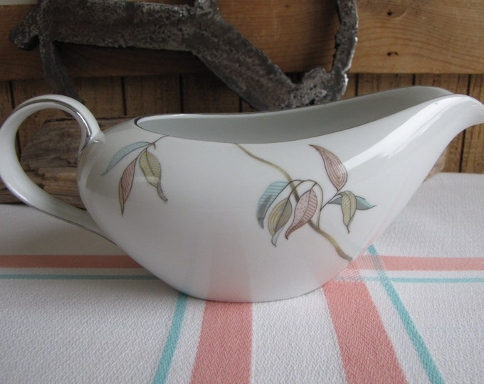 Tropic Leaves by Fine China Japan Gravy Boat Vintage Dinnerware and Replacements