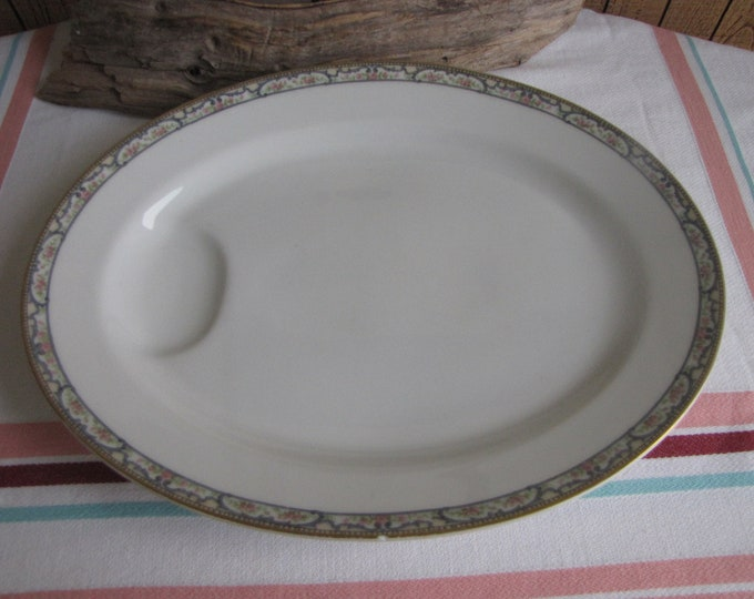 Theodore Haviland 1903 Dinner Platter Antique Dinnerware and Replacements Mystery Pattern