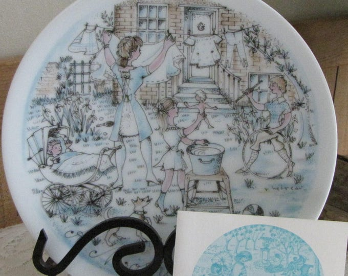 Mother's Day Haviland Decorative Plate The Wash 1974 Second in a Series Collectible Plates