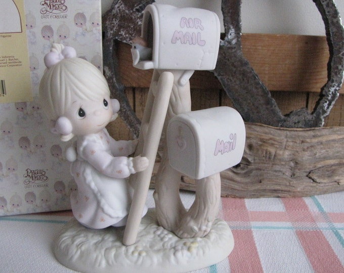 Precious Moments Sharing the Good News Together Figurine Retired 1991 Membership Figure Vessel Symbol Collector Club