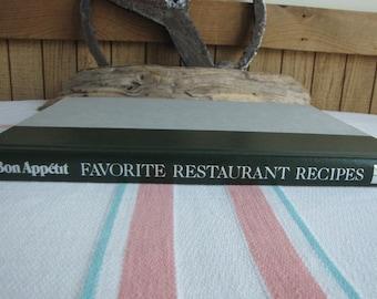 Bon Appetit Favorite Restaurant Recipes Cookbook Vintage Cookbooks