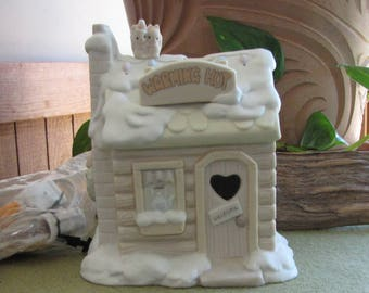 Precious Moments Sugar Town Warming Hut Lighted Heart Symbol 1996 Retired
