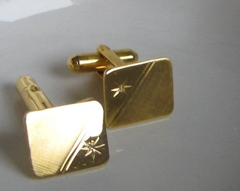 Colbri Gold and Diamond Cuff Links Vintage Men's Jewelry and Accessories