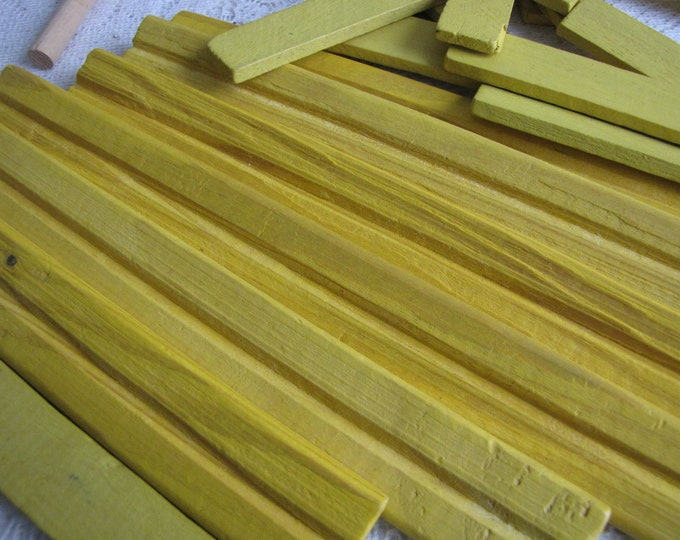 Lincoln Logs Wooden Specialty Yellow Building Slats Vintage Toys
