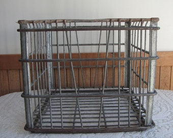 Wire Milk Crate Dean's Milk Co. Elgin IL Dairy Industrial Salvage