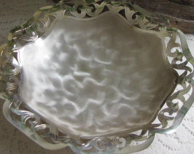 IKORA Silver Plated Bowl and Enamel Tortoise Shell 1927-1949 WMF Vintage Art Deco Bowl